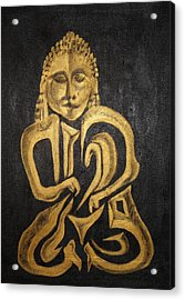 Buddha Metallica Acrylic Print by Pius Kendakur
