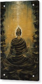 Buddha. Nirvana Ocean Acrylic Print by Vrindavan Das