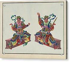 Buddha Or Buddhist Deities Acrylic Print by British Library