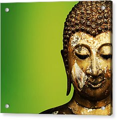 Buddha Portrait  Acrylic Print by Thanes