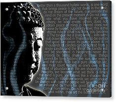 Acrylic Print featuring the digital art Buddha Quotes by Sassan Filsoof