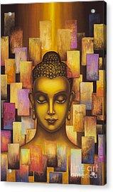 Buddha. Rainbow Body Acrylic Print by Yuliya Glavnaya