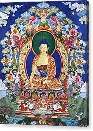 Buddha Shakyamuni And The Six Supports Acrylic Print by Leslie Rinchen-Wongmo