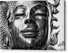 Buddha Smile Acrylic Print by Dean Harte