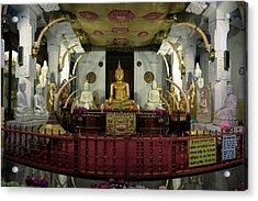 Buddha Statues In Sri Dalada Maligawa Acrylic Print by Panoramic Images