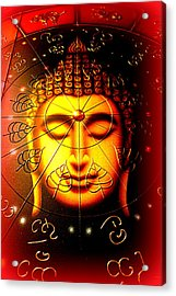 Buddha Acrylic Print by The Creative Minds Art and Photography