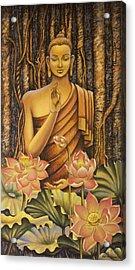 Buddha Acrylic Print by Vrindavan Das