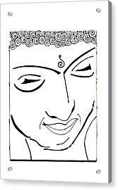 Buddha Xiv Acrylic Print by Kruti Shah