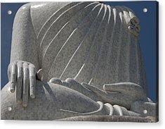 Buddha's Hands - Big Buddha Of Phuket Dthp415 Acrylic Print by Gerry Gantt
