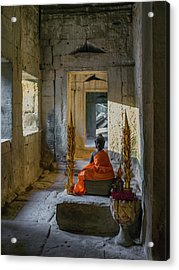 Buddhist Altar. Ta Prohm. Angkor Acrylic Print