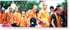 Buddhist Monks Luang Prabang Laos Acrylic Print by Panoramic Images