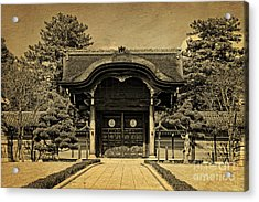 Buddhist Temple Gate In Early Spring Acrylic Print