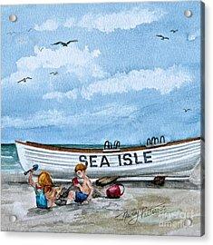 Buddies In Sea Isle City 2 Acrylic Print by Nancy Patterson