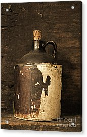 Buddy Bear Moonshine Jug Acrylic Print by John Stephens