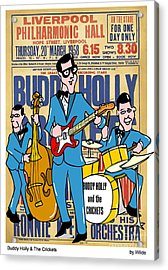 Buddy Holly And The Crickets In The Uk Acrylic Print by Paul Wilde