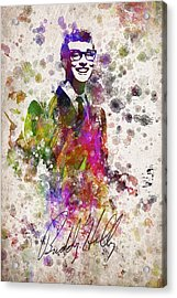 Buddy Holly In Color Acrylic Print by Aged Pixel