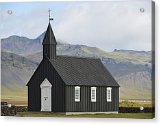 Budir Church Stadarsveit, Snaefellsnes Acrylic Print by Michael Thornton