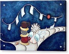Buenas Noches Inspiracion Acrylic Print by Belen Jauregui
