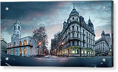 Buenos Aires Cabildo On Plaza De Mayo Acrylic Print by Panoramic Images