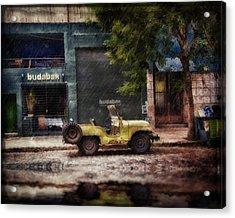 Buenos Aires Jeep Under The Rain Acrylic Print
