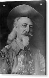 Acrylic Print featuring the photograph Buffalo Bill Cody by Charles Beeler