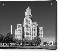 Buffalo City Hall 0519b Acrylic Print by Guy Whiteley