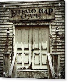 Buffalo Gap Chapel Acrylic Print