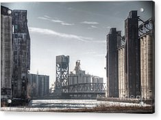 Buffalo Grain Mills Acrylic Print by Jim Lepard
