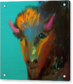 Acrylic Print featuring the painting Buffalo by Keith Thue