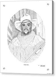 Buffalo Mike Acrylic Print by Arthur Eggers