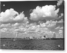 Acrylic Print featuring the photograph Buffalo Skyline by Cindy Haggerty