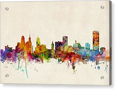 Buffalo Skyline Acrylic Print by Michael Tompsett