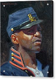 Buffalo Soldier Acrylic Print by Armand Cabrera