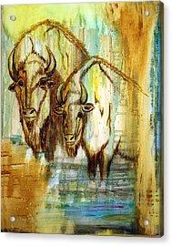 Acrylic Print featuring the painting Buffalo Waters by Jennifer Godshalk