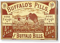 Buffalo's Pills Vintage Ad Acrylic Print by Gianfranco Weiss