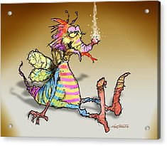Bug Zapped Acrylic Print by Nate Owens