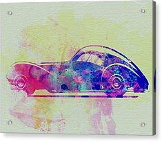 Bugatti Atlantic Watercolor 3 Acrylic Print by Naxart Studio