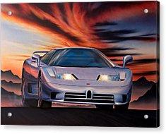 Bugatti Acrylic Print by Garry Walton
