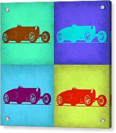 Bugatti Type 35 R Pop Art 1 Acrylic Print by Naxart Studio