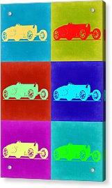 Bugatti Type 35 R Pop Art 2 Acrylic Print by Naxart Studio