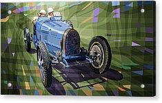 Bugatti Type 35 Acrylic Print by Yuriy Shevchuk