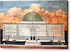 Buhl Planetarium Theatre In Pittsburgh Pa Around 1940 Acrylic Print by Dwight Goss