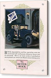 Buick 1926 1920s Usa Cc Cars Acrylic Print by The Advertising Archives