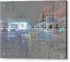 Acrylic Print featuring the digital art Building A City by Susanne Baumann