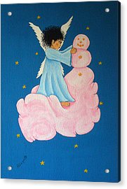 Building A Cloudman Acrylic Print by Pamela Allegretto