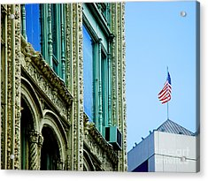 Building And Flag Acrylic Print