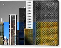 Building Blocks Cityscape Acrylic Print