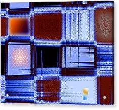 Building Facade In Abstract Art Acrylic Print by Mario Perez