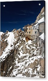 Acrylic Print featuring the photograph building in Aiguille du Midi - Mont Blanc by Antonio Scarpi
