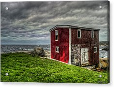 Building On The Sea's Edge Acrylic Print by Ken Morris
